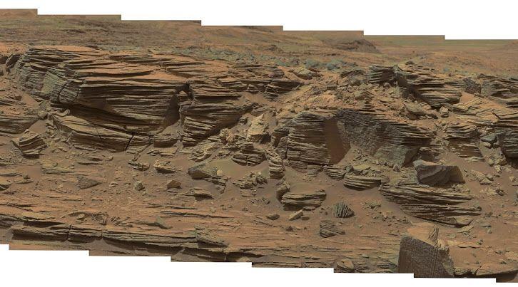 NASA Mars Curiosity Rover Mastcam View: Sol 1073 Curiosity mastcam R Sol 1073 demosaicing   Credit: NASA/JPL-Caltech Processing: Credit: Elisabetta Bonora & Marco Faccin / aliveuniverse.today Release Date: August 19, 2015