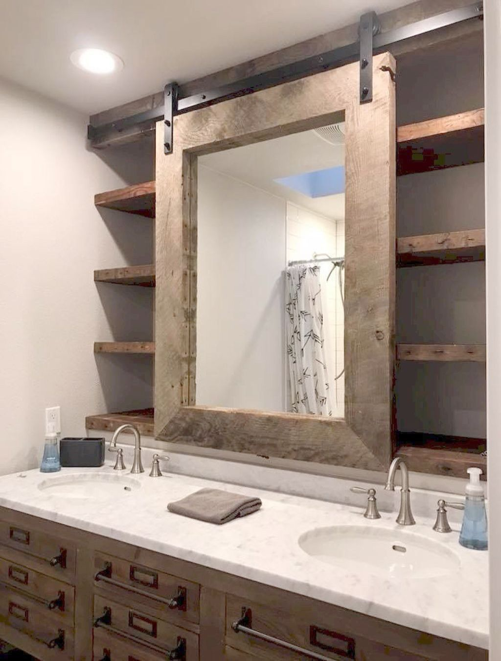Bathroom Decor Houzz His Bathroom Mirrors San Diego Without