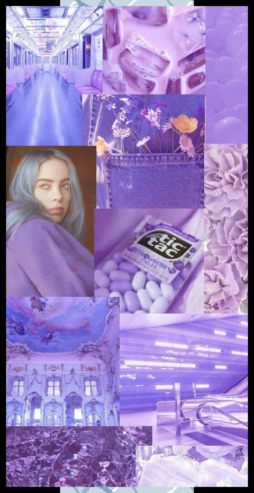 Aesthetic Purple Billie Eilish Be Orignal Google Search In 2020 Purple Aesthetic Purple Wallpaper Flower Phone Wallpaper