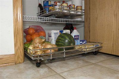 Shelf On Wheels 80 Expandable Kitchen Pantry Roll Out With