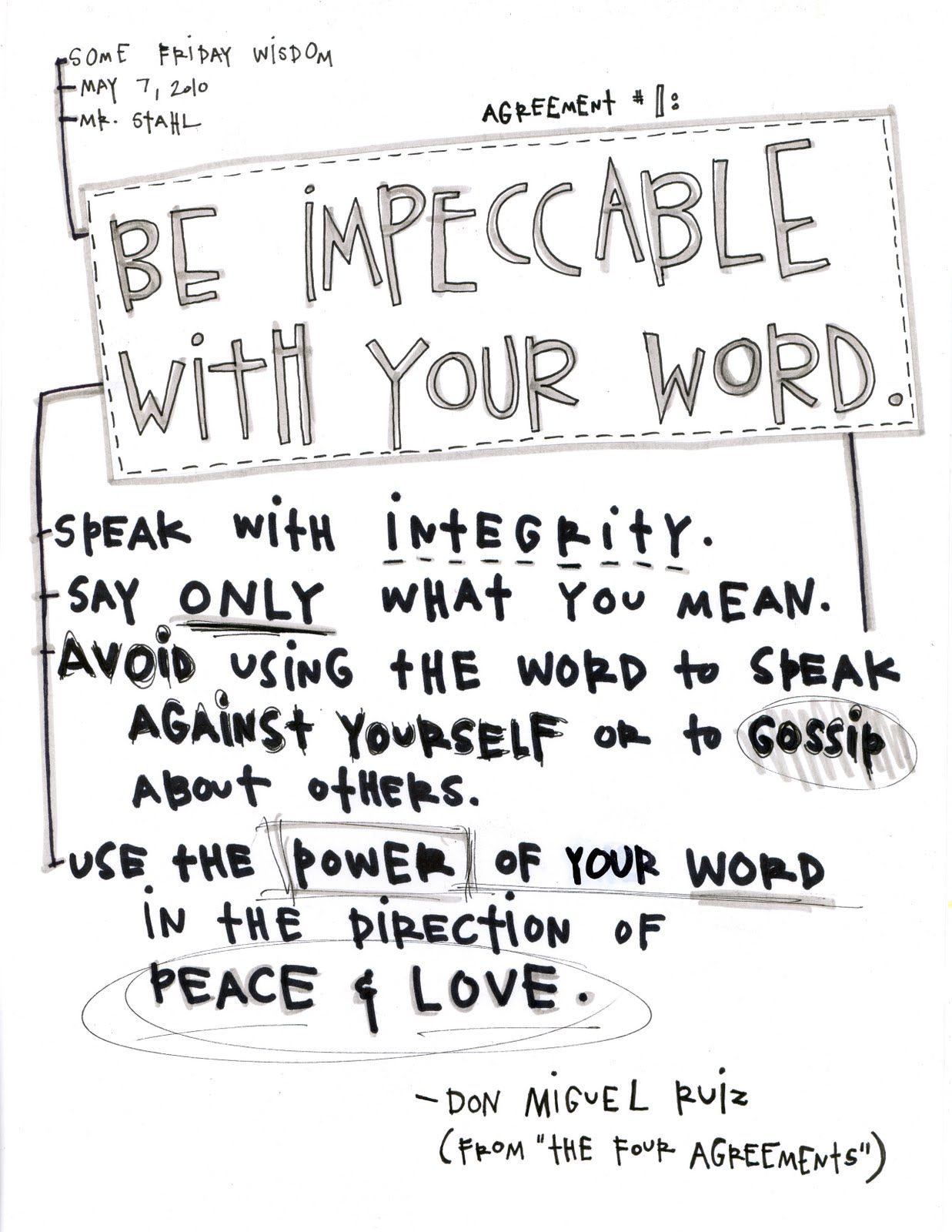 Four Agreements Quotes The Four Agreements  Wisdom Proverbs Quotes And Hard Truth