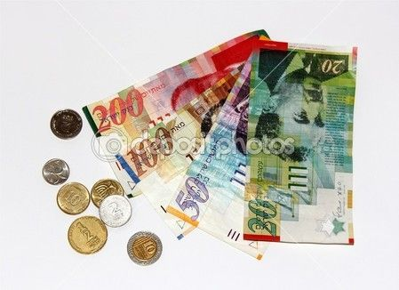 Economics This Is The Israeli New Shekel One Worth Us 0 28 100 Agorot 1 Types Of Bank Notes Are 20 50 And 200 Nis