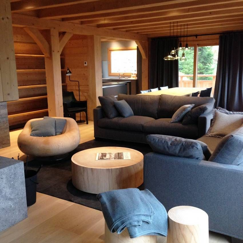 chalet la clusaz d coration prestige luxe montagne. Black Bedroom Furniture Sets. Home Design Ideas