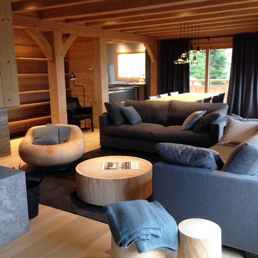chalet la clusaz d coration prestige luxe montagne chalet pinterest chalet chalet. Black Bedroom Furniture Sets. Home Design Ideas