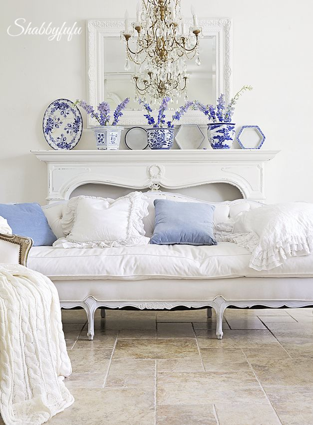 Adding blue to a white room for
