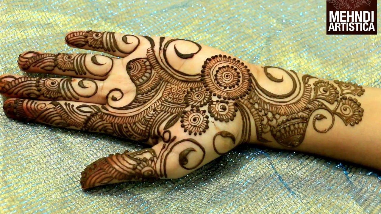Easy Simple Beautiful Circular Mehndi Designs For Hands