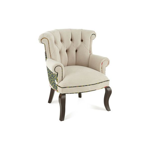 Good Haute House Cream Peacock Chair ($1,999) ❤ Liked On Polyvore Featuring Home,  Furniture