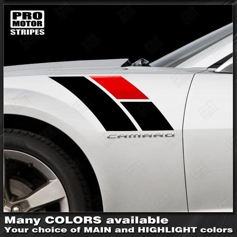Chevrolet Camaro 2010-2019 Fender Hash Side Accent Stripes Decals Choose Color