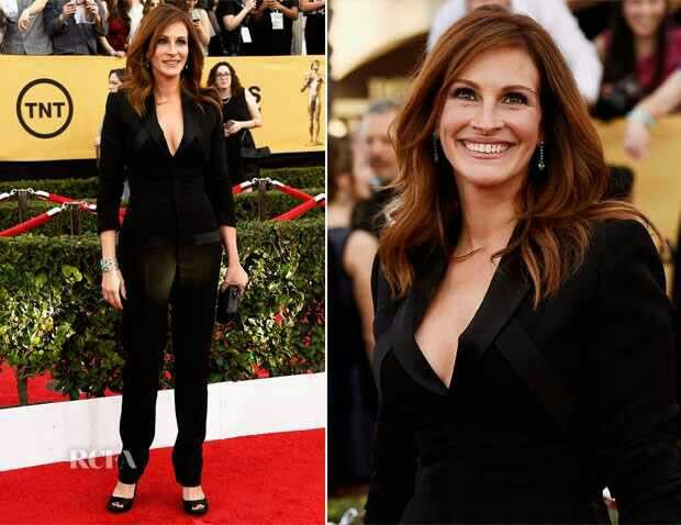 Julia SAG Awards 2015 Moda no tapete vermelho, Looks