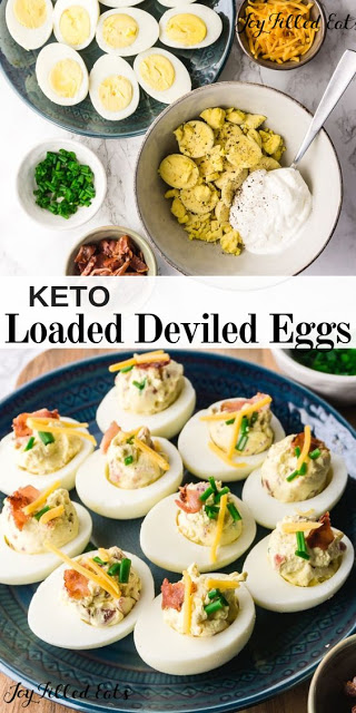 Keto Loaded Deviled Eggs Recipe In 2020 Low Carb Appetizers Recipes Keto Deviled Eggs