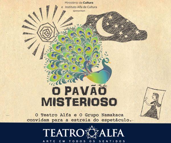 Temos o prazer de apresentar: O PAVÃO MISTERIOSO! Essa semana estreia, programe-se! Ingressos: http://goo.gl/4InUEo