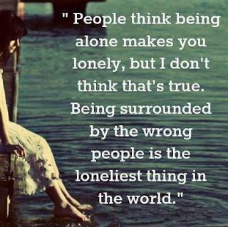 Positive Inspirational Quotes: People think being alone makes...