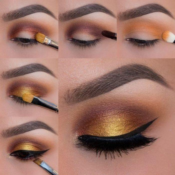 como pintarse los ojos lindos tonos clidos oro - Pintarse Los Ojos