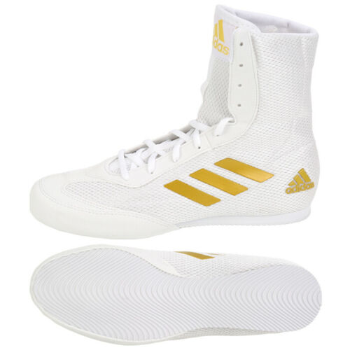 white and gold adidas wrestling shoes