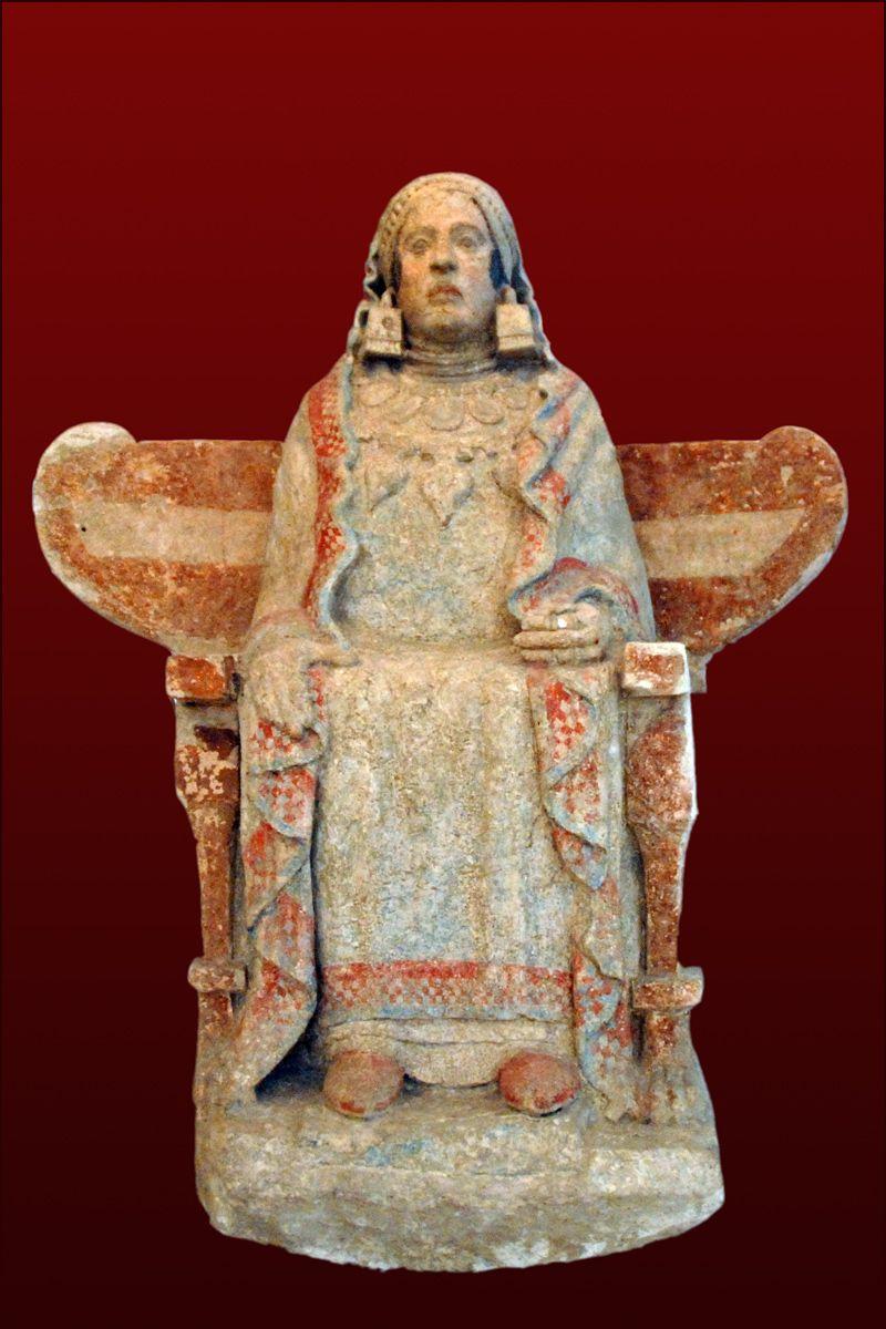 "Ancient Iberian Sculpture ""Lady of Baza."" 4th century B.C"