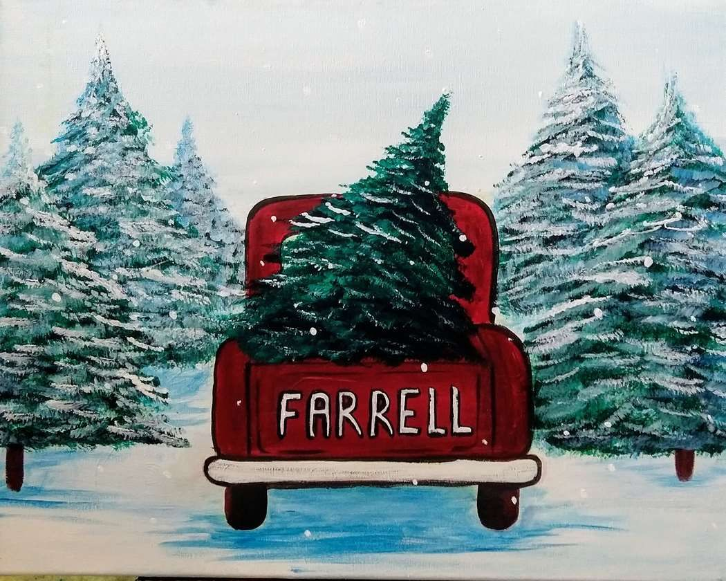Every Christmas Eve we drove into the woods to pick out a