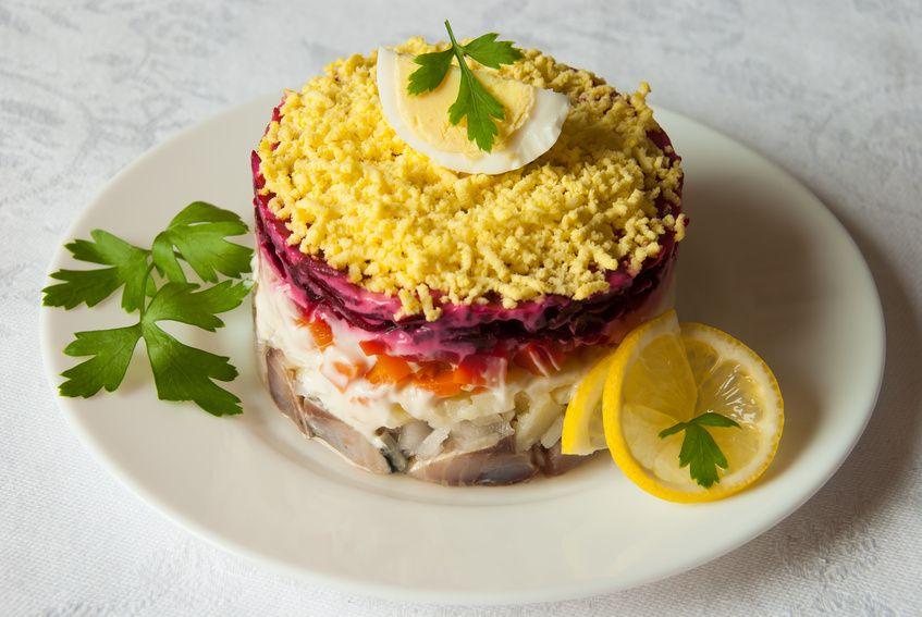 russischer schichtsalat schuba Salate Pinterest Schichtsalat - russische k che rezepte