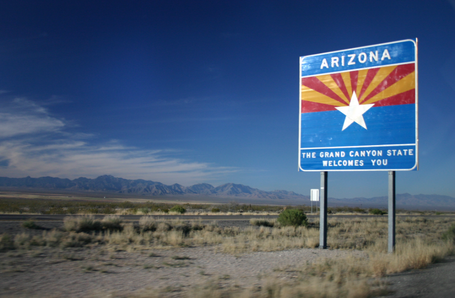 Arizona desert roads are as long as they are beautiful and scenic!