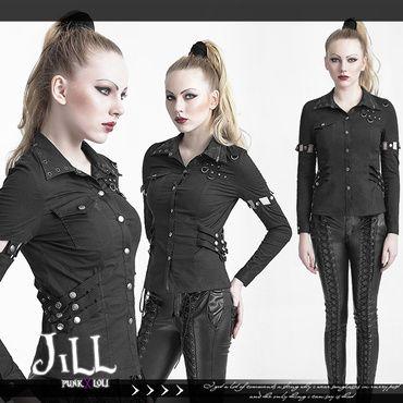 Jill punk shop - punk rock ROCK N ROLL Wind Orchestra received high elastic sleeves Slim long-sleeved shirt PUNK | Punk rock shirts. Punk. Punk shirt