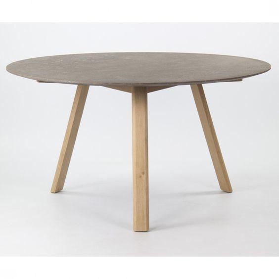 Tisch Rund Beton Optik Esstisch Rund Grau Durchmesser 140
