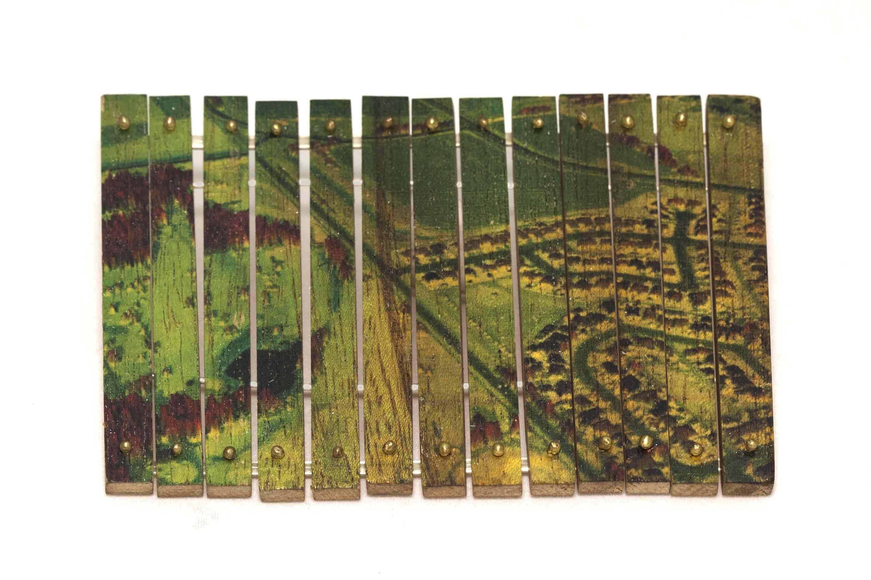 """""""Urbanization I"""" brooch by Iacov Azubel"""