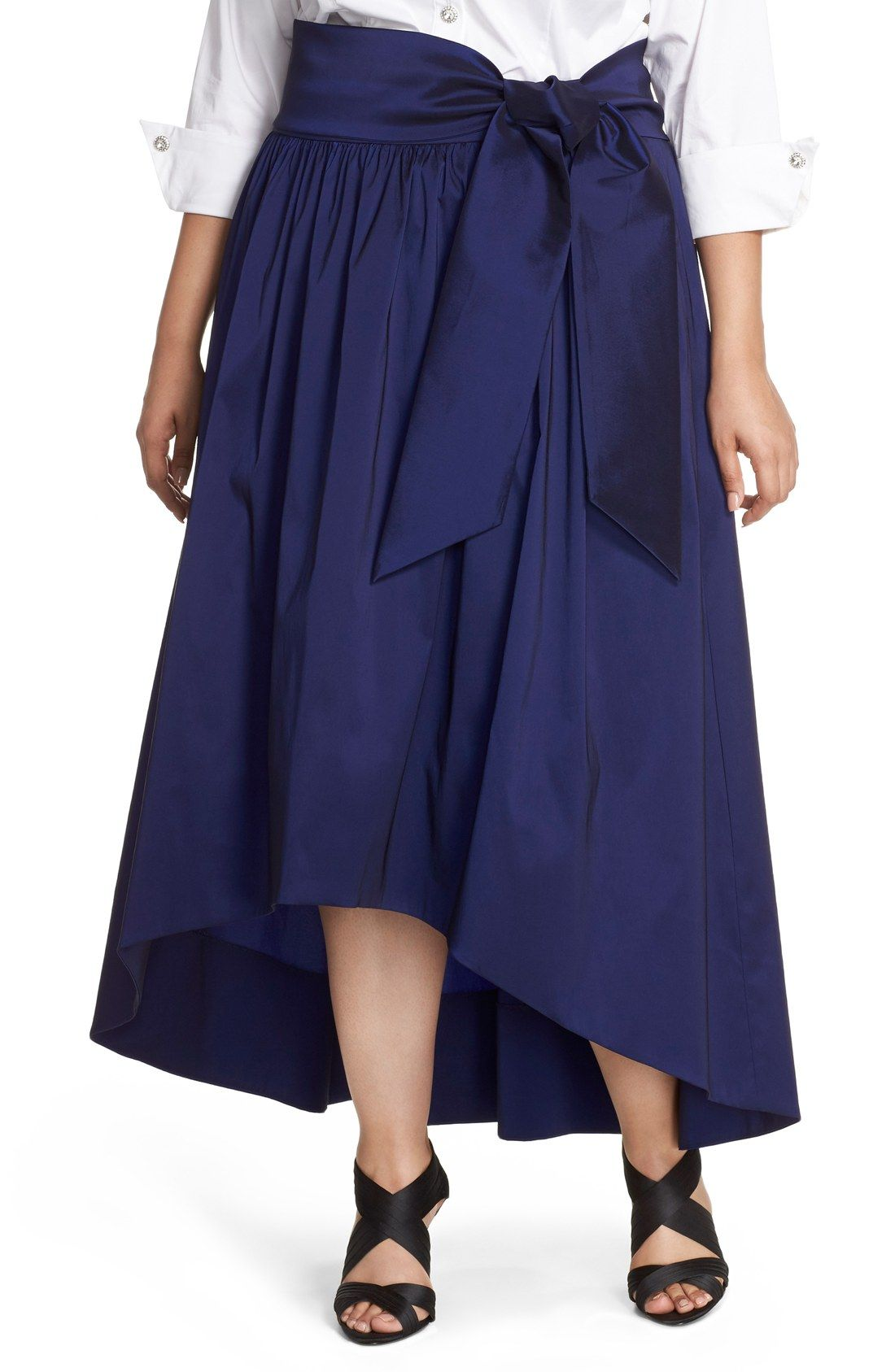 bb7c0573986 Eliza J HIgh Low Taffeta Ball Skirt (Plus Size)