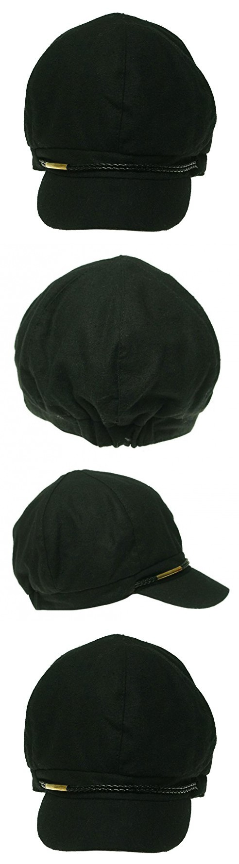 8951aa767ea64 Nine West Women s Wool Blend Newsboy Cap One Size Black
