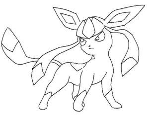 Pokemon Coloring Pages Glaceon Pokemon Coloring Pages Pokemon Coloring Easy Pokemon Drawings