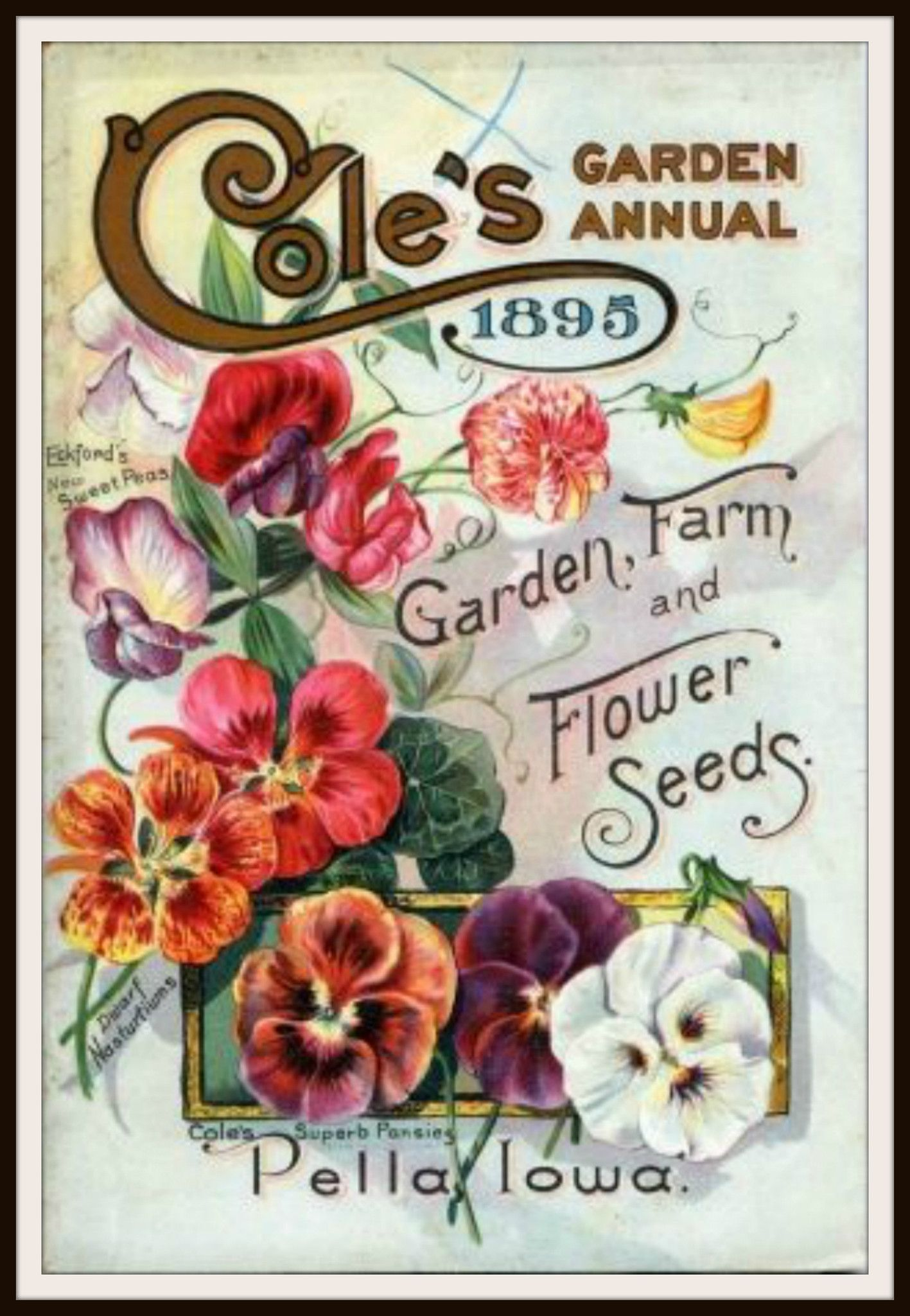 Beautiful Art Print Vintage Seed Pack Image Wall Decor Unframed Is