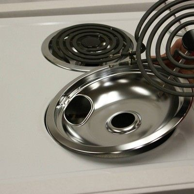 Range Kleen 2pc Chrome Style A Drip Bowls Chrome Pan