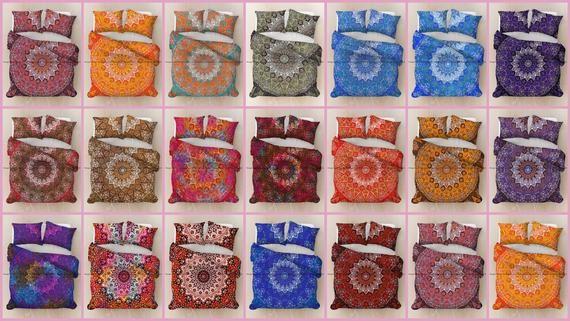 Exclusive Star Mandala Reversible Handmade Cotton Duvet Doona Cover Boho Bohemian Hippie Comforter Q