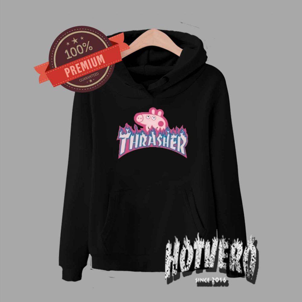d32815a04997 Cheap Peppa Pig X Thrasher Parody Pullover Hoodie - Urban Streetwear  //Price: 33.50// #Cutegraphictees #Cutetshirts #Streetweartshirtdesign  #Urbanfashion ...