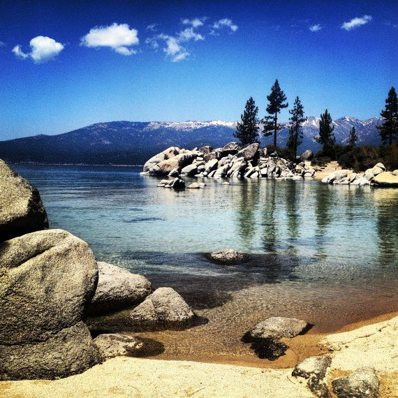 Hey, I found this really awesome Etsy listing at https://www.etsy.com/listing/164993261/sunny-summer-morning-lake-tahoe-blue