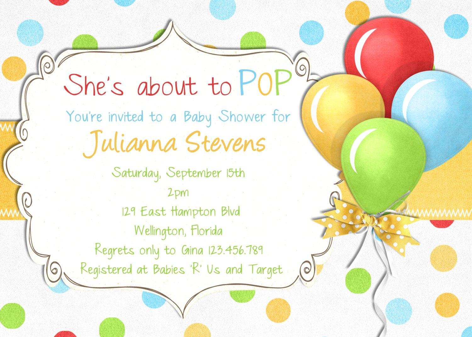 Baby Shower Reveal Invitations with beautiful invitations design