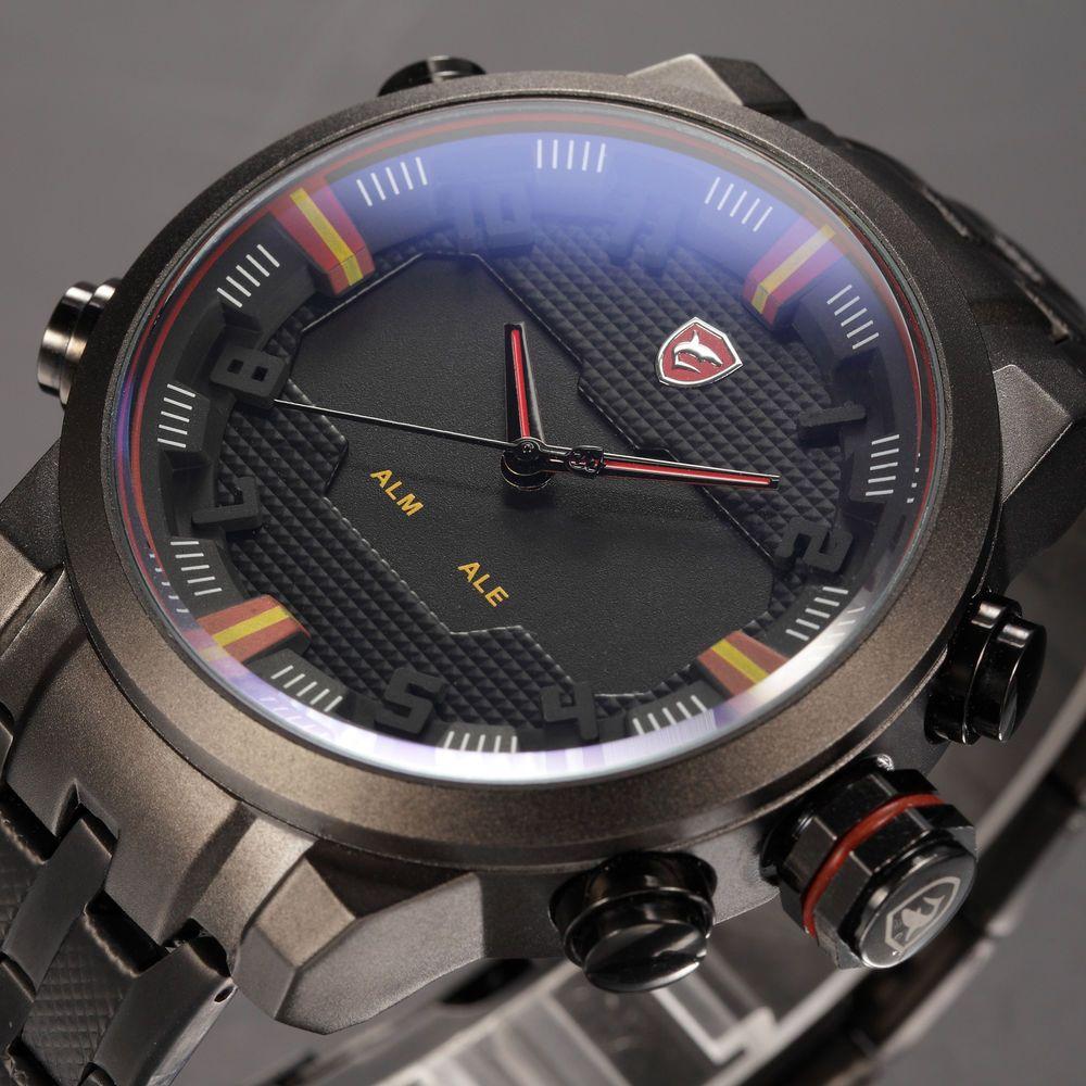 Men Digital LED Date Day Quartz Military Sport Wrist Watch