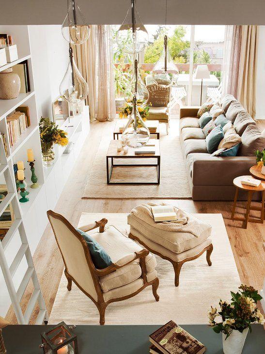 triplex con un interior refinado y fresco chic and deco | el mueble ...