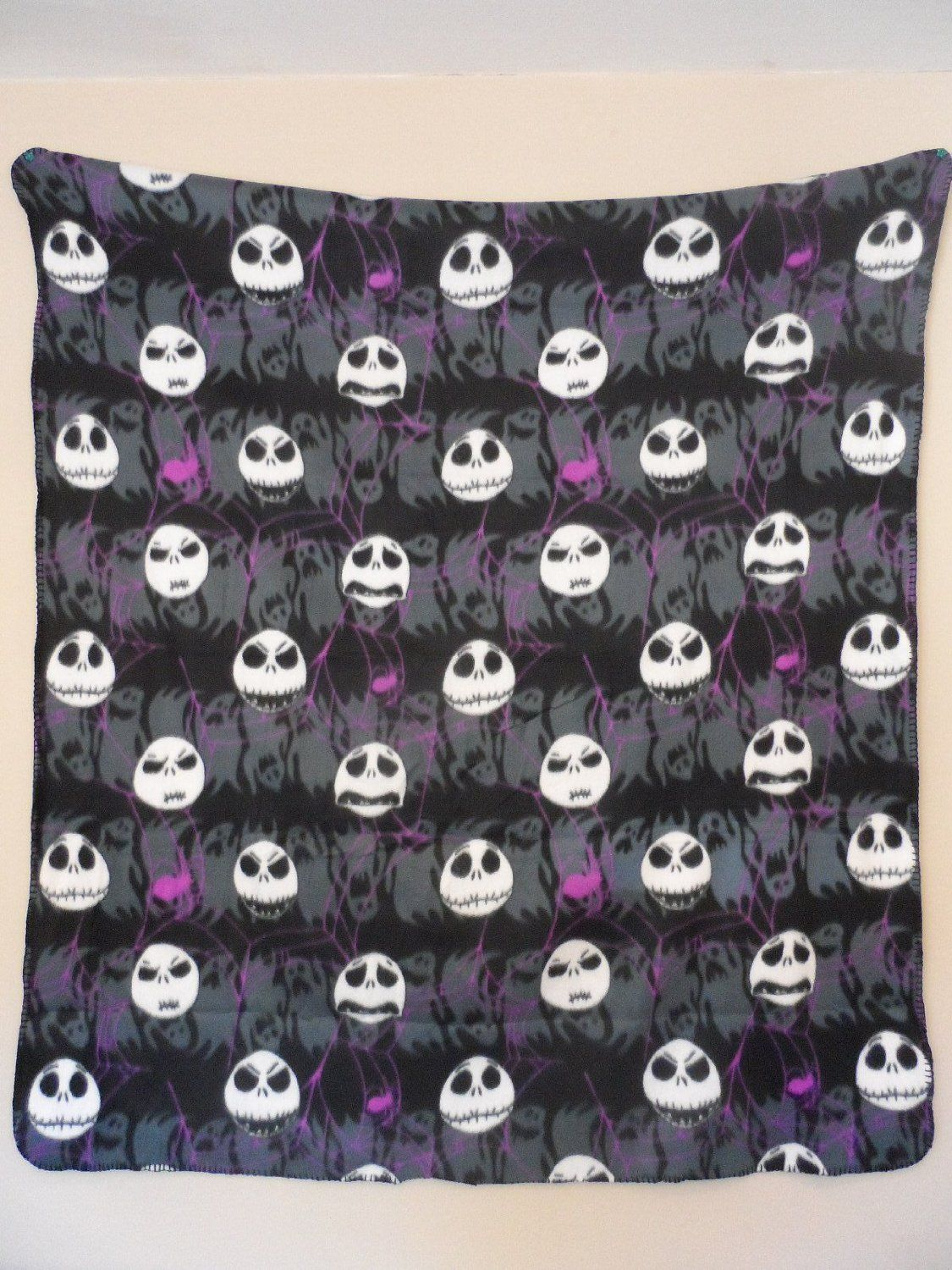 Amazon.com: Jack Skellington Nightmare Before Christmas Fleece Throw ...