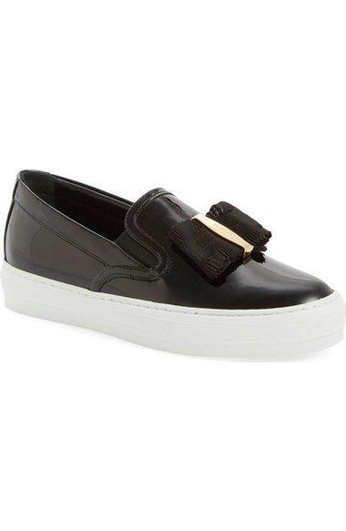 Salvatore Ferragamo Elastic Platform Slip-On Sneaker mSCt7tKL