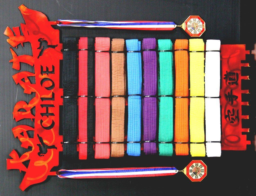 Karate belt display ideas - Karate Belt Display 10 Level