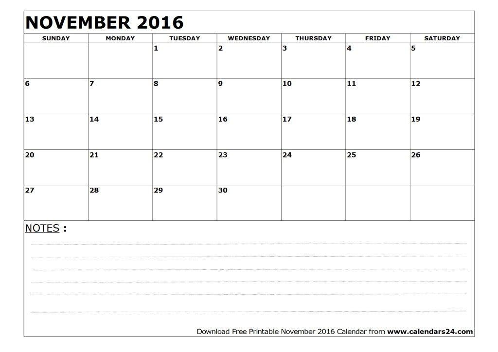 Pin By Jasmeet Kaur On November 2016 Calendar Free Printable