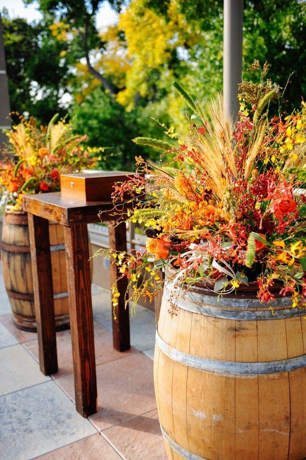 Modern Rustic Fall Wedding Wine Barrel Wedding