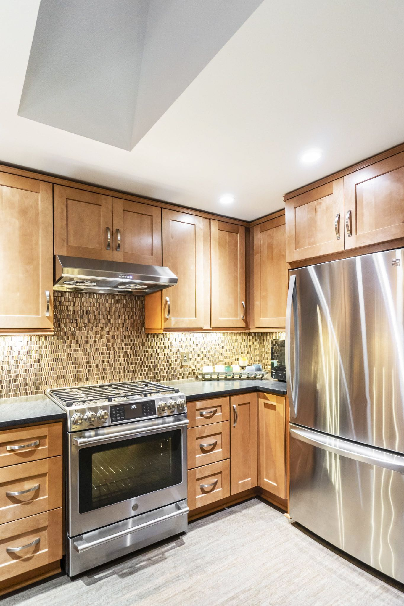 Almond Maple | Maple kitchen cabinets, Maple kitchen ...