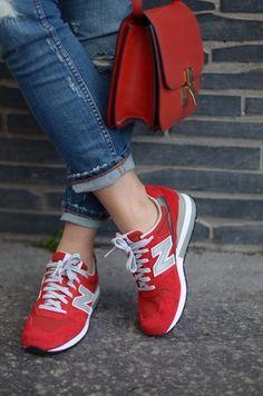 New balance + jeans com a barra dobrada  e88ecb57d5389