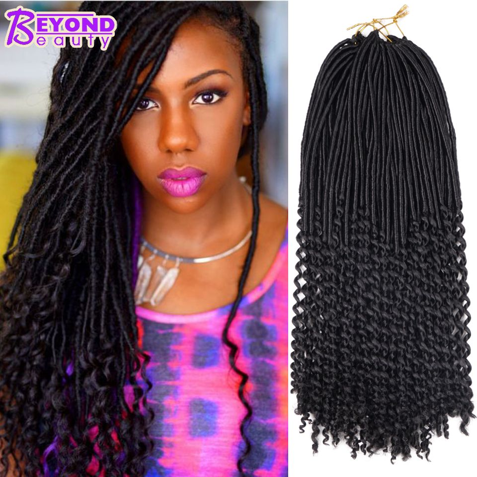 20 Curly Dess Faux Locs Crochet Hair Synthetic Freetress Soft Bobbi