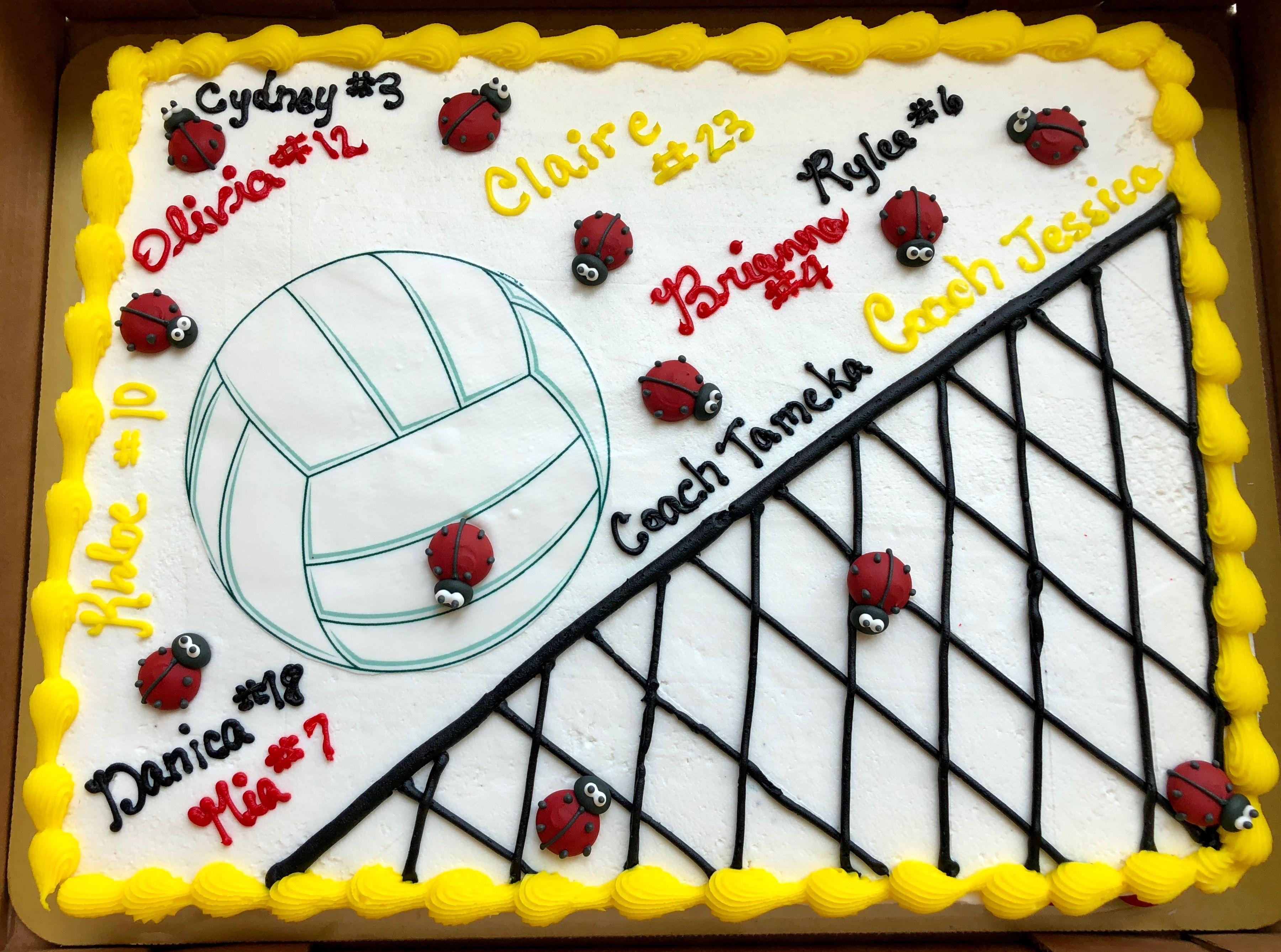 Volleyball Team Cake Sugar Cookie Cake Desserts