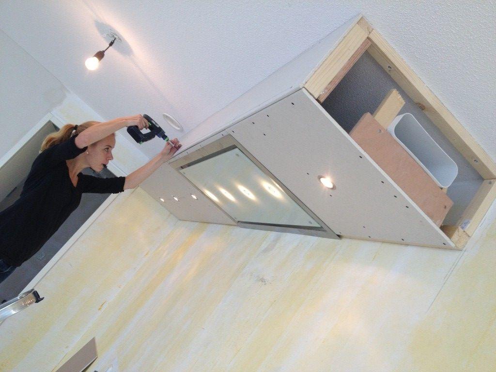 Koof Met Spots En Vlakke Afzuiger False Ceiling Details