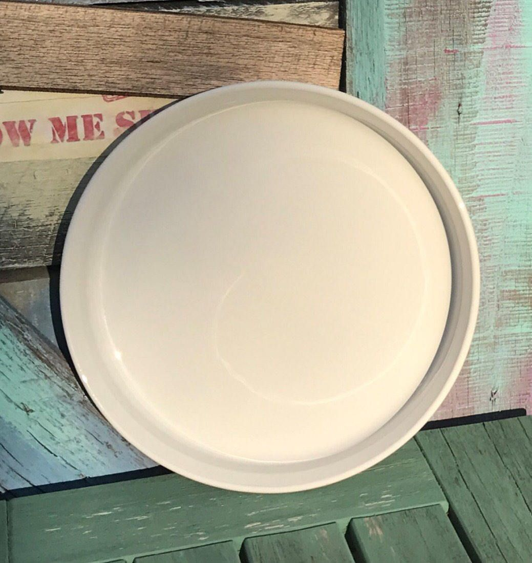 F-3-B French White 1980u0027s Vintage Corningware Pie Plate 10  24cm Round | Embossed St& | Corning Ware Plain Winter Quiche Dish Pan 10 Inch & F-3-B French White 1980u0027s Vintage Corningware Pie Plate 10