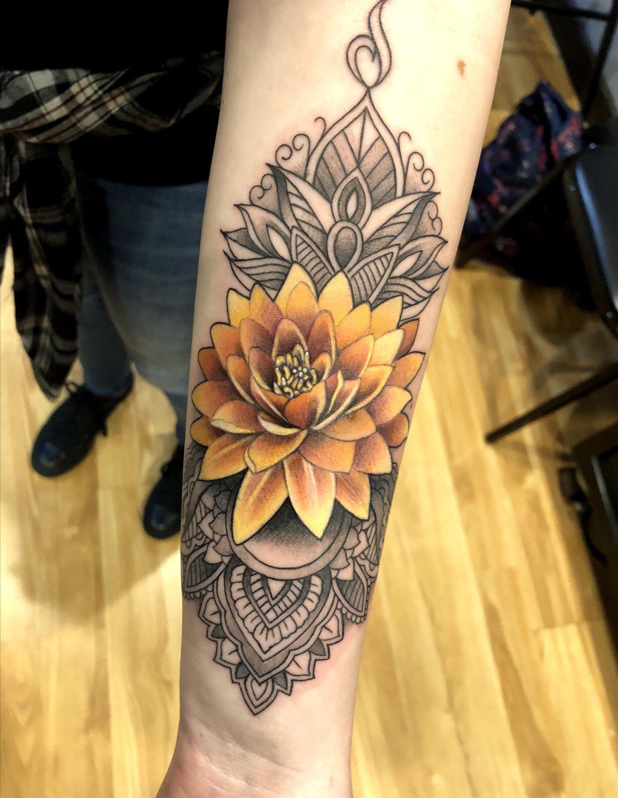 Flower Mandala Tattoo Tattoos Forearm Tattoos Tattoo Styles