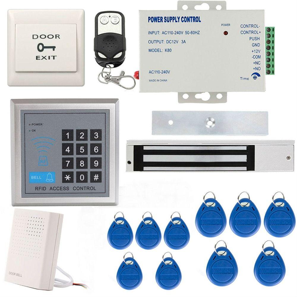 Yobangsecurity 125khz Em Id Card Single Door Access Control Keypad System Kit With Electric Strike Lock Doorbell Doo Access Control Security Door Magnetic Lock