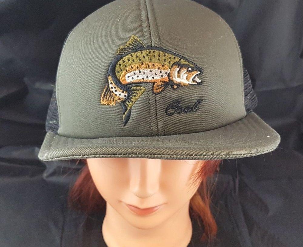 Coal Headwear Fishing Hat Ball Cap Walleye Salmon Trout Fishing Snapback  Fish  Coal  BaseballCap edff8ec4426
